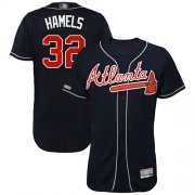 Wholesale Cheap Braves #32 Cole Hamels Navy Blue Flexbase Authentic Collection Stitched MLB Jersey