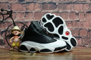 Wholesale Cheap Kids' Air Jordan 13 Retro Shoes Black/White