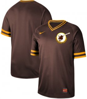 Wholesale Cheap Nike Padres Blank Brown Authentic Cooperstown Collection Stitched MLB Jersey