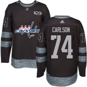 Wholesale Cheap Adidas Capitals #74 John Carlson Black 1917-2017 100th Anniversary Stitched NHL Jersey