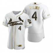Wholesale Cheap St. Louis Cardinals #4 Yadier Molina White Nike Men's Authentic Golden Edition MLB Jersey