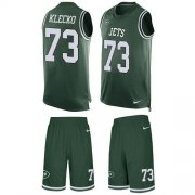 Wholesale Cheap Nike Jets #73 Joe Klecko Green Team Color Men's Stitched NFL Limited Tank Top Suit Jersey