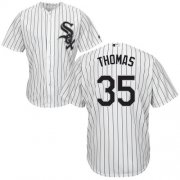 Wholesale Cheap White Sox #35 Frank Thomas White(Black Strip) Home Cool Base Stitched Youth MLB Jersey