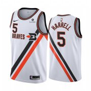 Wholesale Cheap Nike Clippers #5 Montrezl Harrell White 2019-20 Classic Edition Stitched NBA Jersey