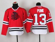 Wholesale Cheap Blackhawks #13 Punk Red(Red Skull) Stitched Youth NHL Jersey