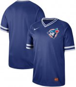 Wholesale Cheap Nike Blue Jays Blank Royal Authentic Cooperstown Collection Stitched MLB Jersey