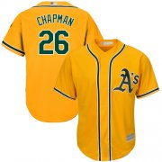 Wholesale Cheap Athletics #26 Matt Chapman Gold New Cool Base Stitched MLB Jersey