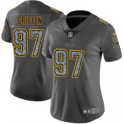 Wholesale Cheap Nike Vikings #97 Everson Griffen Gray Static Women's Stitched NFL Vapor Untouchable Limited Jersey