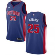 Wholesale Cheap Nike Pistons #25 Reggie Bullock Blue NBA Swingman Icon Edition Jersey
