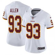 Wholesale Cheap Nike Redskins #93 Jonathan Allen White Women's Stitched NFL Vapor Untouchable Limited Jersey