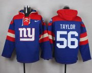 Wholesale Cheap Nike Giants #56 Lawrence Taylor Royal Blue Player Pullover NFL Hoodie