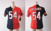 Wholesale Cheap Nike Bears #54 Brian Urlacher Navy Blue/Orange Women's Stitched NFL Elite Split Jersey