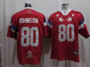 Wholesale Cheap Texans #80 Andre Johnson 2011 Red Pro Bowl Stitched NFL Jersey
