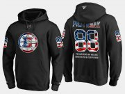 Wholesale Cheap Bruins #88 David Pastrnak NHL Banner Wave Usa Flag Black Hoodie