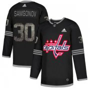 Wholesale Cheap Adidas Capitals #30 Ilya Samsonov Black Authentic Classic Stitched NHL Jersey