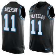 Wholesale Cheap Nike Panthers #11 Robby Anderson Black Team Color Men's Stitched NFL Limited Tank Top Jersey