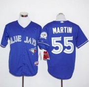 Wholesale Cheap Blue Jays #55 Russell Martin Blue Alternate Stitched MLB Jersey