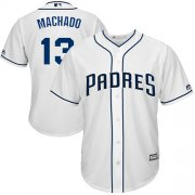 Wholesale Cheap Padres #13 Manny Machado White Cool Base Stitched Youth MLB Jersey