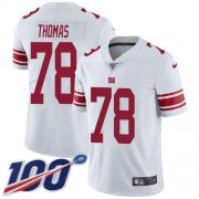 Wholesale Cheap Nike Giants #78 Andrew Thomas White Men's Stitched NFL 100th Season Vapor Untouchable Limited Jersey