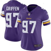 Wholesale Cheap Nike Vikings #97 Everson Griffen Purple Team Color Women's Stitched NFL Vapor Untouchable Limited Jersey