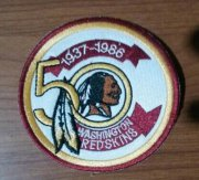 Wholesale Cheap Stitched NFL Washington Redskins 1937-1986 50TH Patch