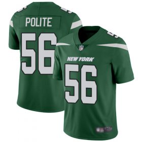Wholesale Cheap Nike Jets #56 Jachai Polite Green Team Color Men\'s Stitched NFL Vapor Untouchable Limited Jersey