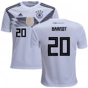 Wholesale Cheap Germany #20 Brandt White Home Kid Soccer Country Jersey