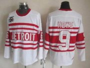 Wholesale Cheap Red Wings #9 Gordie Howe White CCM Throwback 75TH Stitched NHL Jersey