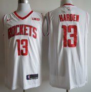 Wholesale Cheap Rockets 13 James Harden White Nike Swingman Jersey