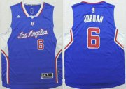 Wholesale Cheap Men's Los Angeles Clippers #6 DeAndre Jordan Revolution 30 Swingman 2014 New Blue Jersey