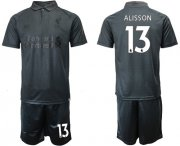 Wholesale Cheap Liverpool #13 Alisson Black Soccer Club Jersey