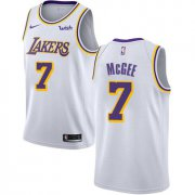 Wholesale Cheap Men's Los Angeles Lakers #7 JaVale McGee White Nike NBA Association Edition Authentic Jersey