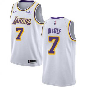 Wholesale Cheap Men\'s Los Angeles Lakers #7 JaVale McGee White Nike NBA Association Edition Authentic Jersey