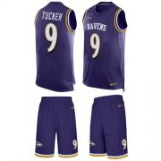 Wholesale Cheap Nike Ravens #9 Justin Tucker Purple Team Color Men's Stitched NFL Limited Tank Top Suit Jersey