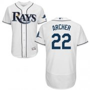 Wholesale Cheap Rays #22 Chris Archer White Flexbase Authentic Collection Stitched MLB Jersey