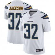 Wholesale Cheap Nike Chargers #32 Justin Jackson White Men's Stitched NFL Vapor Untouchable Limited Jersey