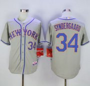 Wholesale Cheap Mets #34 Noah Syndergaard Grey Road Cool Base Stitched MLB Jersey