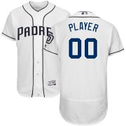 Wholesale Cheap San Diego Padres Majestic Home Flex Base Authentic Collection Custom Jersey White