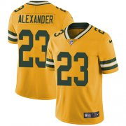 Wholesale Cheap Nike Packers #23 Jaire Alexander Yellow Youth Stitched NFL Limited Rush Jersey