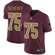 Wholesale Cheap Nike Redskins #75 Brandon Scherff Burgundy Red Alternate Men's Stitched NFL Vapor Untouchable Limited Jersey