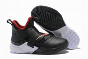 Wholesale Cheap Nike Lebron James Soldier 12 Shoes Black White Red