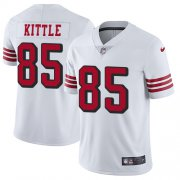 Wholesale Cheap Nike 49ers #85 George Kittle White Rush Men's Stitched NFL Vapor Untouchable Limited Jersey