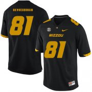 Wholesale Cheap Missouri Tigers 81 Albert Okwuegbunam Black Nike College Football Jersey