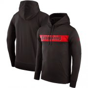 Wholesale Cheap Men's Tampa Bay Buccaneers Nike Pewter Sideline Team Performance Pullover Hoodie