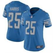 Wholesale Cheap Nike Lions #25 Will Harris Light Blue Team Color Women's Stitched NFL Vapor Untouchable Limited Jersey
