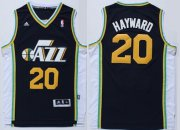 Wholesale Cheap Utah Jazz #20 Gordon Hayward Revolution 30 Swingman Navy Blue Swingman Jersey