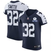 Wholesale Cheap Nike Cowboys #32 Saivion Smith Navy Blue Thanksgiving Men's Stitched With Established In 1960 Patch NFL Vapor Untouchable Throwback Elite Jersey