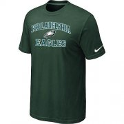 Wholesale Cheap Nike NFL Philadelphia Eagles Heart & Soul NFL T-Shirt Dark Green
