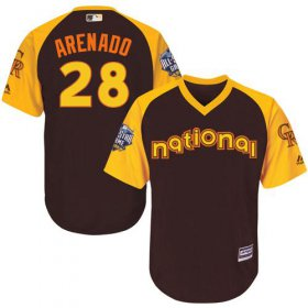 Wholesale Cheap Rockies #28 Nolan Arenado Brown 2016 All-Star National League Stitched Youth MLB Jersey