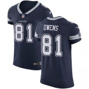 Wholesale Cheap Nike Cowboys #81 Terrell Owens Navy Blue Team Color Men's Stitched NFL Vapor Untouchable Elite Jersey